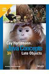 Horstmann, Java Concepts Late Objects, Third Edition  Student Edition Grades 9-12-9781119582182