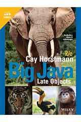 Horstmann, Big Java Late Objects, Second Edition  Student Edition Grades 9-12-9781119582748