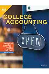 Weygandt, College Accounting, First Edition  Student Edition Grades 9-12-9781119582854