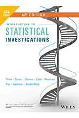 Tintle, Introduction To Statistical Investigations, First Edition, AP Edition 1 Year WileyPLUS Set Grades 9-12-9781119586470