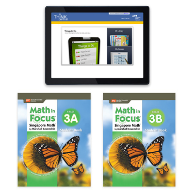 Math in Focus (STA) 1 Year Digital Student Edition with Resources Online Grade 3-9781328483911