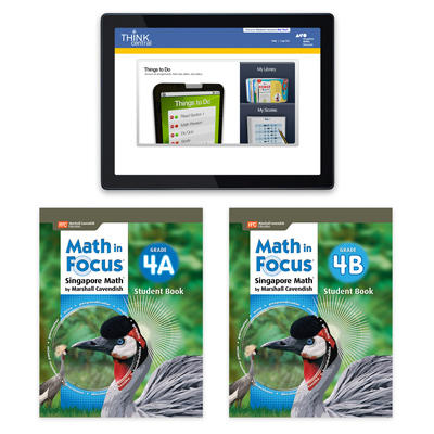 Math in Focus (STA) 1 Year Digital Student Edition with Resources Online Grade 4-9781328483928