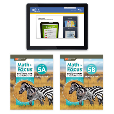 Math in Focus (STA) 1 Year Digital Student Edition with Resources Online Grade 5-9781328483935