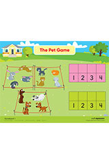 "Math Expressions (StA)  Game Boards - 9 X 12"" Coated Heavy Cardstock (2 SIDED) Grade PreK-9781328578334"