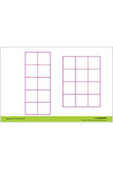 "Math Expressions (StA)  6x9 Grid Cards - 6 X 9"" Coated Heavy Cardstock (2 SIDED) Grade PreK-9781328578426"