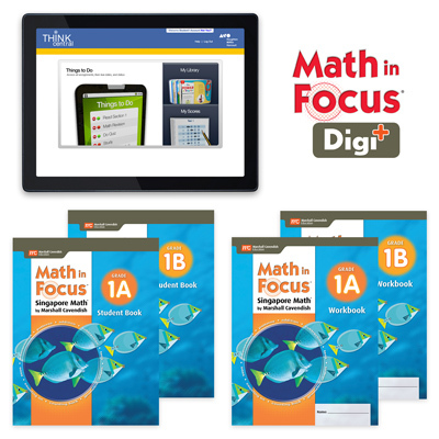 Math in Focus (STA) with 1 Year Digital Student Edition and Workbook Set with Digi+ Grade 1-9781328631039
