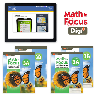 Math in Focus (STA) with 1 Year Digital Student Edition and Workbook Set with Digi+ Grade 3-9781328631053