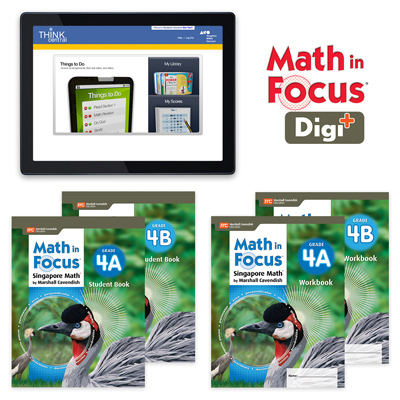 Math in Focus (STA) with 1 Year Digital Student Edition and Workbook Set with Digi+ Grade 4-9781328631060