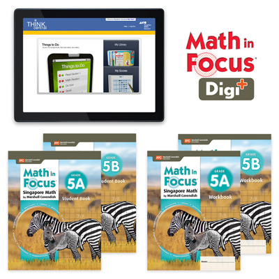 Math in Focus (STA) with 1 Year Digital Student Edition and Workbook Set with Digi+ Grade 5-9781328631077