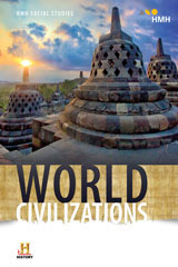 HMH Social Studies: World Civilizations  Class Set Student Resource Package W/Channel 1 (Print/8yr Digital) Grades 6-8-9781328699480