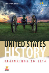 HMH Social Studies United States History: Beginnings to 1914  Class Set Student Resource Package W/Channel 1 (Print/6yr Digital) Grades 6-8-9781328699954