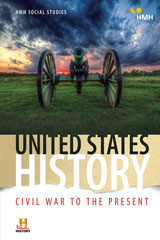 HMH Social Studies United States History: Civil War to the Present  Class Set Classroom Package W/Channel 1 (Print/7yr Digital) Grades 6-8-9781328701527