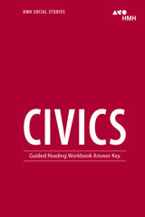Civics  Guided Reading Workbook Answer Key-9781328712141
