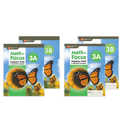Math in Focus (STA)  Student Edition and Workbook Set Refill Grade 3-9781328978677