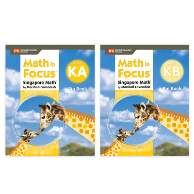 Math in Focus (STA)  Student Leveled Reader Big Book Bundle Grade K-9781328978875