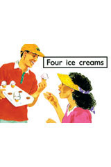 Rigby PM Platinum Collection  Individual Student Edition Magenta (Levels 1-2) Four Ice Creams-9781418903749