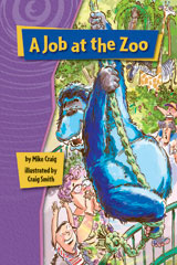 Rigby Gigglers  Leveled Reader 6pk Purple A Job at the Zoo-9781418911324