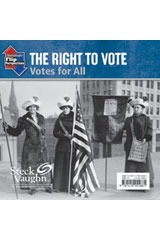 Steck-Vaughn On Ramp Approach Flip Perspectives  Leveled Reader 6pk Silver The Right to Vote-9781419058769