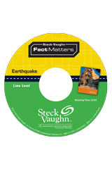 Steck-Vaughn On Ramp Approach Fact Matters  Audio CD Lime (Natural Disasters) Earthquake-9781419059094