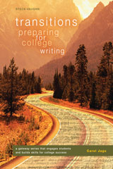 Transitions Worktext, Softcover Preparing for College Writing