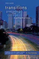 Transitions Worktext, Softcover Preparing for College Mathematics