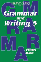 Saxon Grammar and Writing  Teacher Packet Grade 5-9781419098499