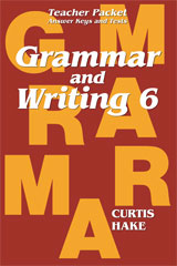 Saxon Grammar and Writing  Teacher Packet Grade 6-9781419098536