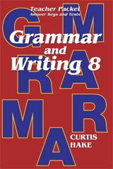 Saxon Grammar and Writing  Teacher Packet Grade 8-9781419098628