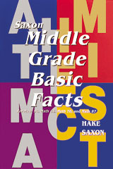 Saxon Math  Middle Grade Basic Fact Card-9781565770133
