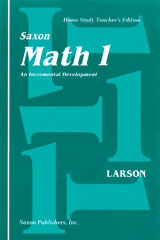Saxon Math 1 Homeschool Teacher's Manual 1st Edition