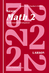 Saxon Math 2 Homeschool  Teacher's Manual 1st Edition-9781565770157