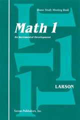 Saxon Math 1 Homeschool Student's Meeting Book 1st Edition
