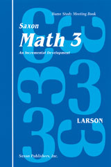 Saxon Math 3 Homeschool  Student's Meeting Book 1st Edition-9781565770249