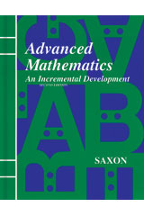 Saxon Advanced Math  Student Edition Second Edition-9781565770393