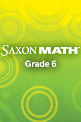 Saxon Math Course 1 Instructional Transparencies Grade 6