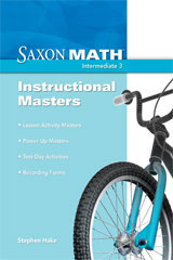 Saxon Math Intermediate 3  Instructional Masters-9781600324499