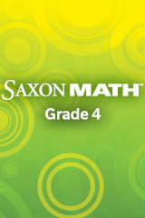 Saxon Math Intermediate 4  Student Edition-9781600325403
