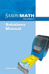 Saxon Math Intermediate 5  Solution Manual-9781600325557