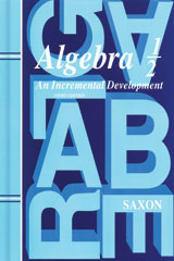Saxon Algebra 1/2  Kit with Solutions Manual 3rd Edition-9781600329708