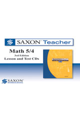 Saxon Math 5/4 Homeschool  Saxon Teacher CD ROM 3rd Edition-9781602773875