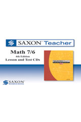 Saxon Math 7/6 Homeschool  Saxon Teacher CD ROM 4th Edition-9781602773899