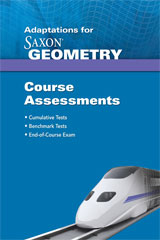 Saxon Geometry  Assessments Adaptation-9781602775442
