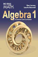 BIG IDEAS MATH Algebra 1 Common Core Student Edition