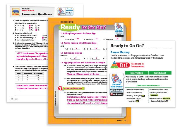 go math grade 6 practice book answer key