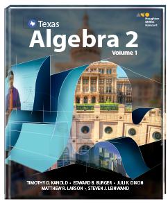 Texas Algebra 2 Volume 2 Answers