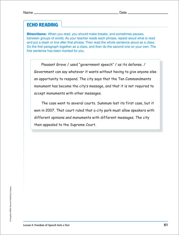 Inside the Text Reading Programs For Struggling Readers – Identifying Text Structure Worksheets