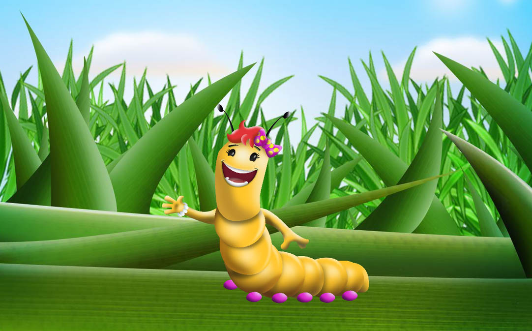 Katy the Caterpillar with Background