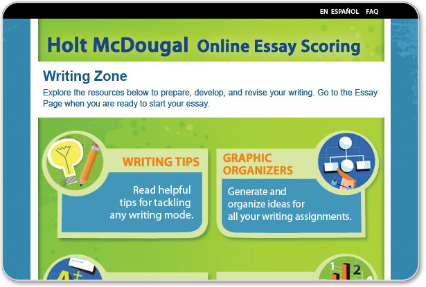 holt online learning essay scoring Search for holt online scoring essay what is holt mcdougal online learning holt mcdougal online learning connects you and your students to our online.