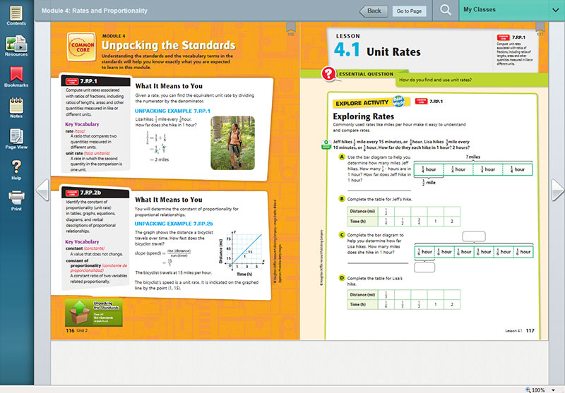 Go math elementary and middle school math curriculums