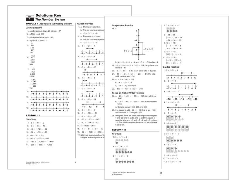 GO Math Elementary and Middle School Math Curriculums – Houghton Mifflin Math Worksheets Grade 3